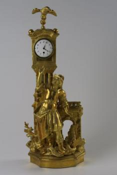 Figural Mantel Timepiece - wood, brass - 1771