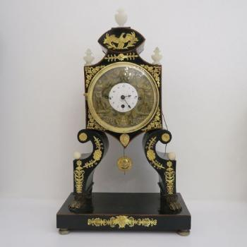 Mantel Clock - alabaster, wood - 1820